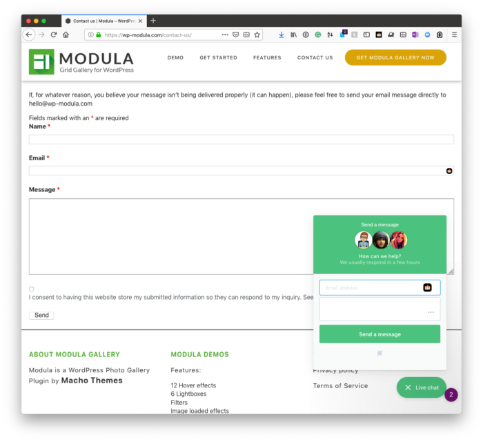 WP Modula: Support