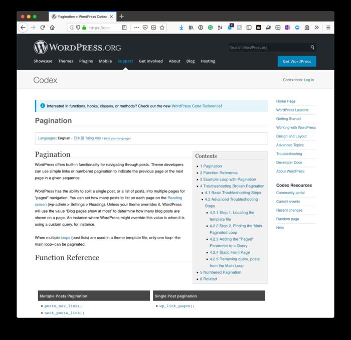 Custom Archive Templates: Pagination