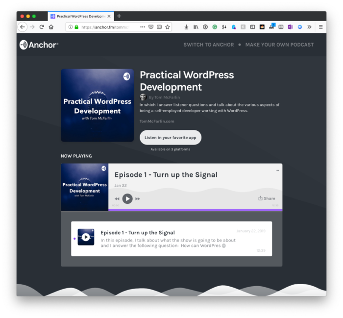 Practical WordPress Development Podcast