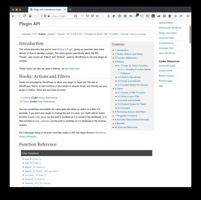 WordPress Widgets, Part 5: Hooks