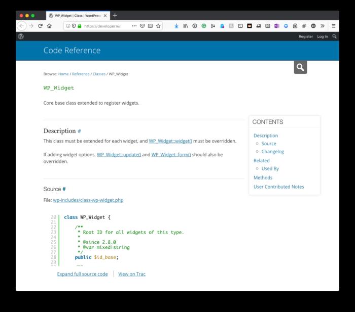 WordPress Widgets: WP_Widget