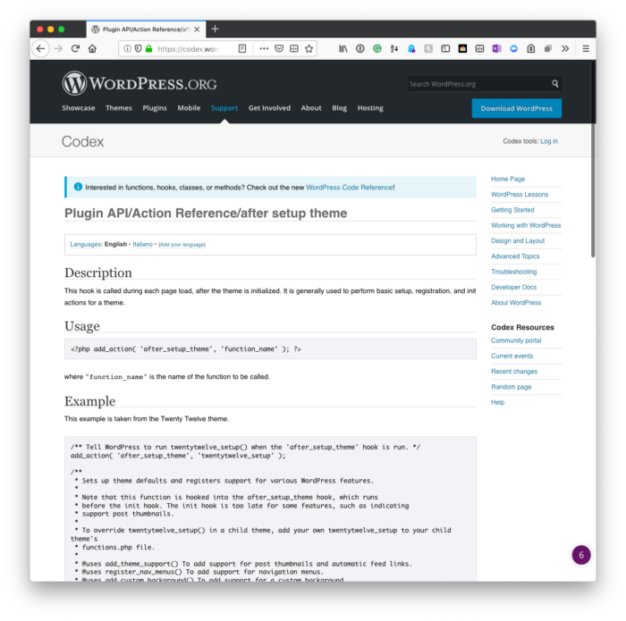 WordPress Programming: Hooks