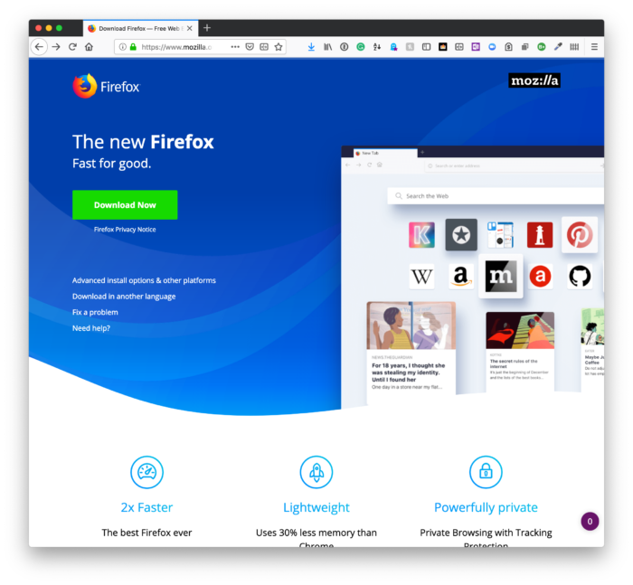 Private Web Browsing: Firefox