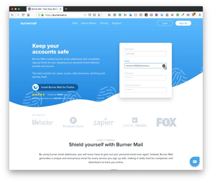 Email Privacy: BurnerMail