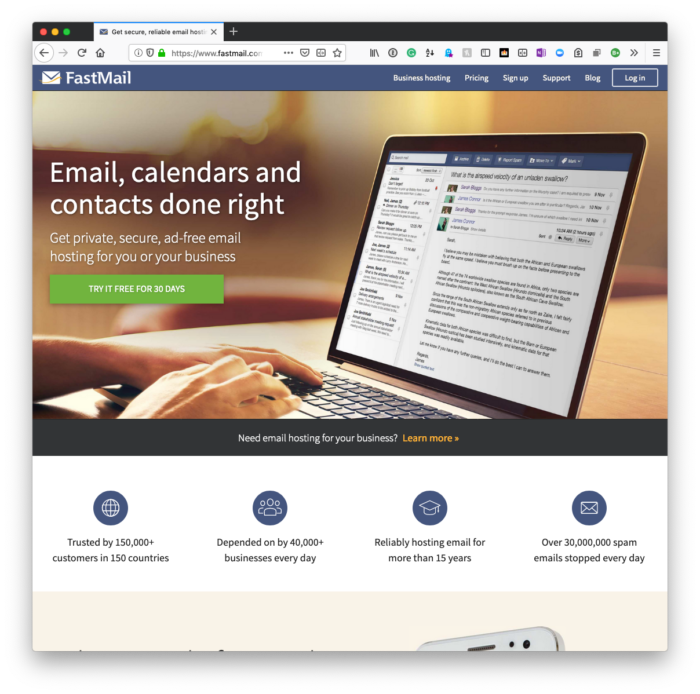 Email Privacy: FastMail