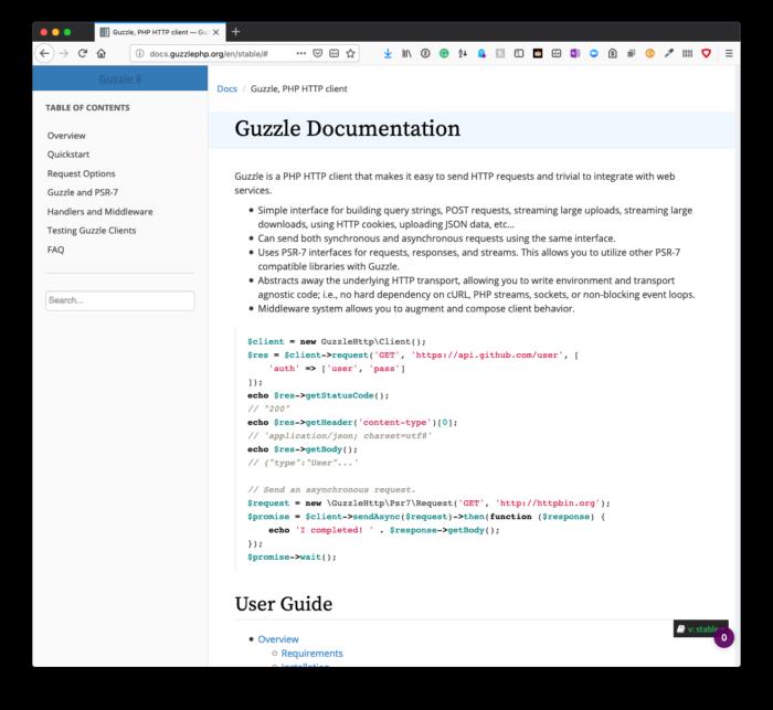 Structuring API Functionality: Guzzle