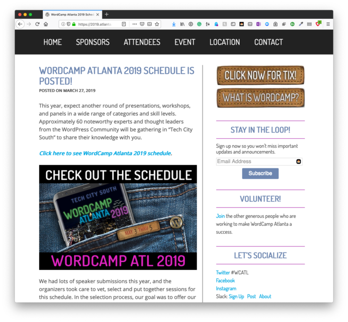 WordCamp Atlanta 2019: Web Apps with WordPress
